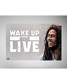 Wake Up and Live Bob Marley  Poster