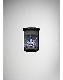 Space Leaf Storage Jar - 3 oz Black Glass