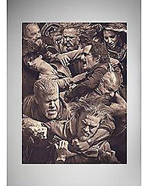 Fight Scene Sons of Anarchy Fleece Blanket