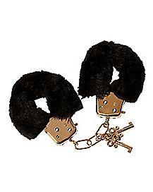 Gold Furry Handcuffs