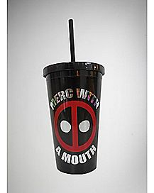 Merc Deadpool Cup with Straw - 16 oz