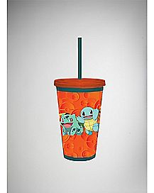Group Pokemon Cup with Straw - 16 oz.