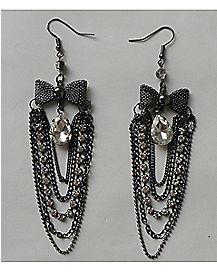 Bow Swing Chain Earrings
