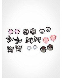 Charm Stud Earring Multipack 9 Pack