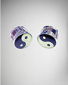 Yin Yang Glow in the Dark Plugs