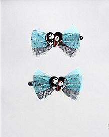 Jack Sally Nightmare Before Christmas Hair Clip Set