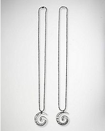 Now and Forever Swirl Nightmare Before Christmas Friendship Necklace- 2 Pack