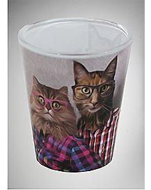 Cat Portrait Shot Glass 2.6 oz
