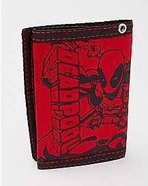 Rubber Patch Deadpool Trifold Wallet