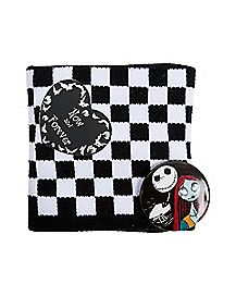 Nightmare Before Christmas Jack & Sally Pin Terry Wristband