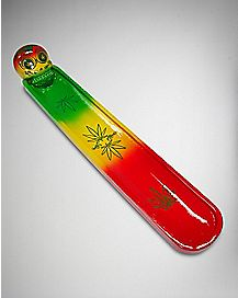 Rasta Skull Flat Incense Burner