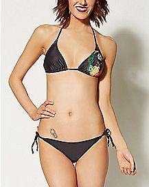 Palm Trees Bob Marley Bikini Swimsuit