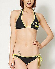 Batman Cutout Halter Bikini