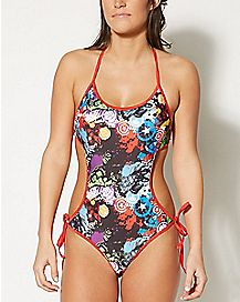 Marvel Superhero Monokini Swimsuit