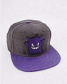 3D Gengar Pokemon Snapback Hat