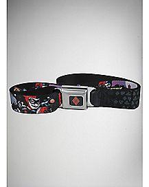 Harley Quinn and Company Seatbelt Belt