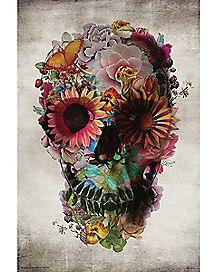 Skull Flower Poster