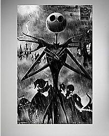 Shadows Nightmare Before Christmas Poster