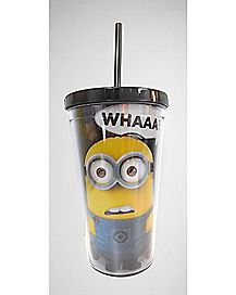 Whaa Minion Despicable Me Cup with Straw - 16 oz.