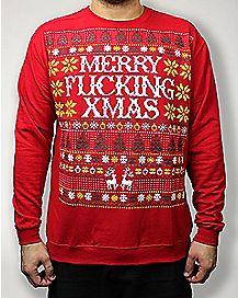 Merry Fucking Xmas Fleece Sweatshirt