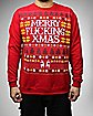Merry Fucking Xmas Fleece Sweatshirt