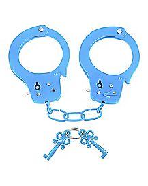 Neon Blue Fun Handcuffs