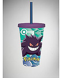 Gengar Pokemon Cup with Straw
