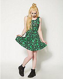 All Over Clover St Patricks Day Dress