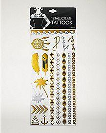 Boho Metallic Tattoos
