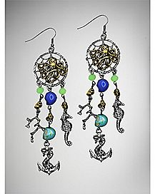 Nautical Dream Catcher Dangle Earrings