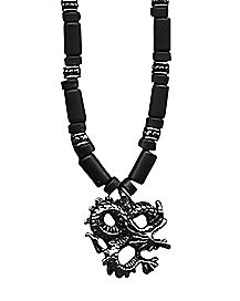 Dragon Tube Industrial Necklace