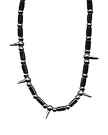 Pointed Beads Industrial Necklace