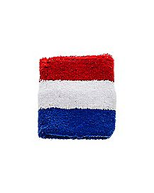 Terry Wristband - Red White &  Blue