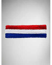 Terry Headband - Red White & Blue