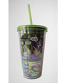 Laser Teenage Mutant Ninja Turtles Cup with Straw
