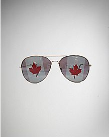 Canadian Flag Aviator Sunglasses