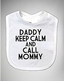 Keep Calm and Call Mommy Bib