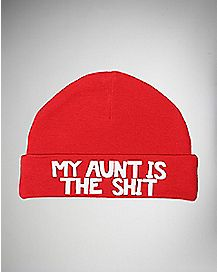 My Aunt is The Shit Baby Knit Hat