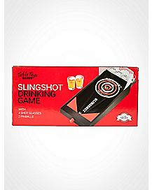 Tabletop Slingshot Drinking Game