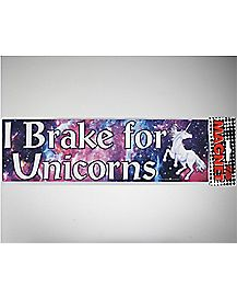 I Brake For Unicorns Car Magnet