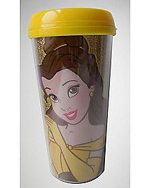 Glitter Belle Travel Mug 16 oz. - Beauty and the Beast