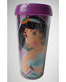 Jasmine Glitter Travel Mug - 16 oz.
