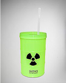 Glow in the Dark Toxic Cup with Straw 24 oz