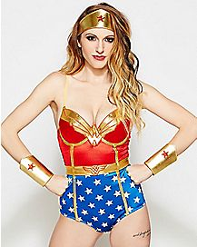 Satin Wonder Woman Bodysuit - DC Comics