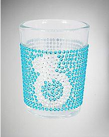 Bling Shot Glass 3 oz Blue