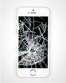 Cracked Screen Transparency Decal