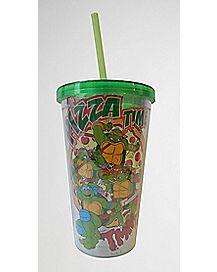 Pizza Teenage Mutant Ninja Turtle  Cup with Straw