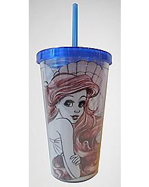 By the Sea Ariel Disney Cup with Straw 16 oz. - The Little Mermaid