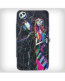 Nightmare Before Christmas Jack Sally Color Web Hinged Wallet