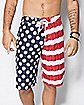 American Flag Beer Pong Mens Board Shorts